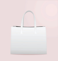 Woman white handbag vector