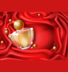 Womans luxury perfume realistic background vector