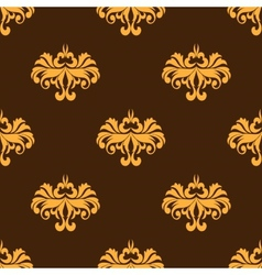 Yellow floral seamless pattern with intricate vector