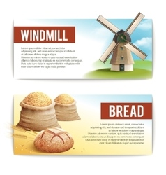 Bread banner set vector