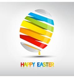 Easter egg shiny colors Happy Easter celebration vector image