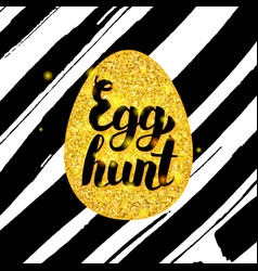 egg hunt hand drawn card vector image vector image