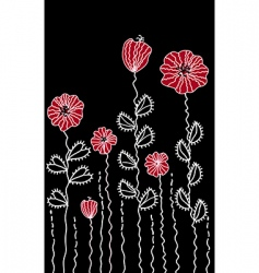 graphic decoration poppy border vector image vector image