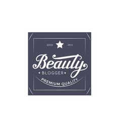 lettering design template vector image