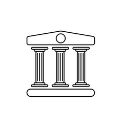museum icon vector image