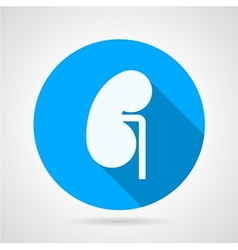 Round icon for nephrology vector image