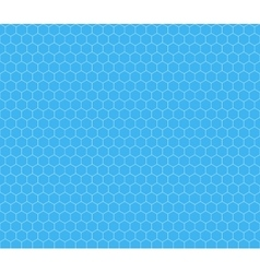 White hexagon grid on cyan seamless pattern vector image vector image