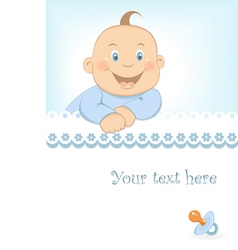 Baby boy arrival announcement vector image