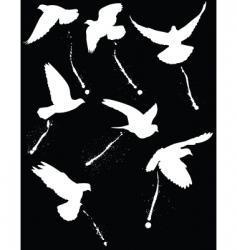 bird droppers vector image