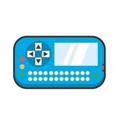 cartoon game console entertainment video vector image