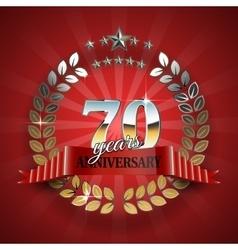 Celebrative golden frame for 70th anniversary vector