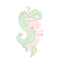 Cute beautiful Unicorn isolated on white Magic vector image vector image