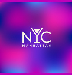 manhattan logo vector image vector image