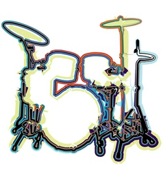 Abstract drum vector image