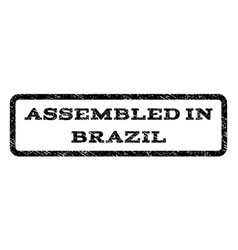 assembled in brazil watermark stamp vector image vector image