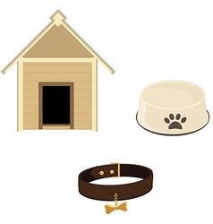 Dog equipment icon set vector image vector image