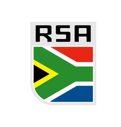 Flag of republic of south africa icon vector image