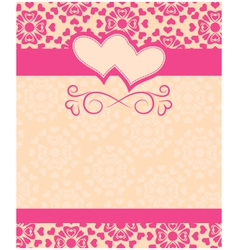 greeting card Happy Valentines Day and wedding day vector image vector image