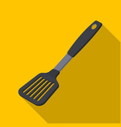 kitchen spatulabbq single icon in flat style vector image vector image