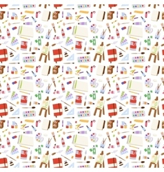 Art stickers seamless pattern vector image