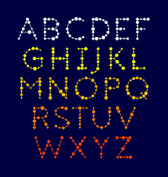 dotted alphabet vector image vector image