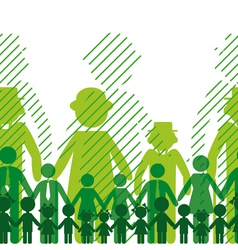 ecology icon family background vector image vector image