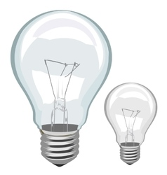 Light bulb isolated vector image