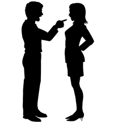 Man woman yell point in couple argument vector image vector image