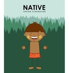 native kid vector image vector image