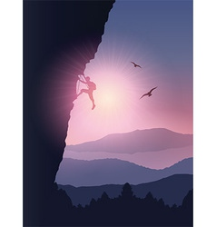 Rock climber background vector image vector image