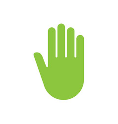 sign hand push icon vector image
