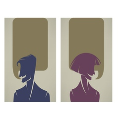 tallking people vector image