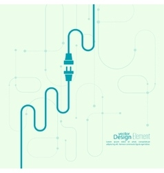abstract background with wire plug and socket vector image