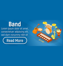 Band concept banner isometric style vector