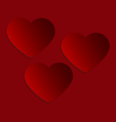 banners hearts for valentine s day greeting vector image