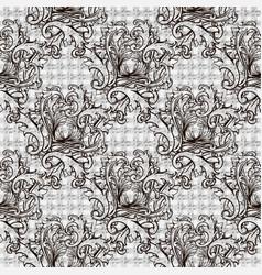 baroque seamless pattern textured grid lattice vector image