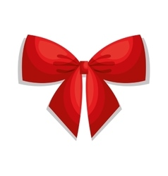 Beautiful bow red isolated vector