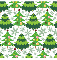 Beautiful christmas tree seamless pattern b vector