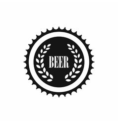 Beer bottle cap icon simple style vector