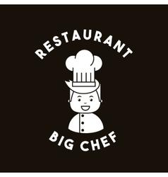 big chef restaurant menu vector image