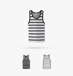 blank singlet template - front and back vector image