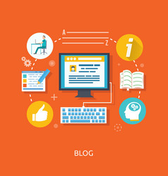 Blogging and writing for website vector image vector image