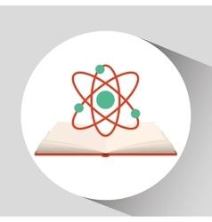 book open chemistry concept school graphic vector image