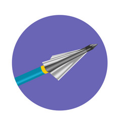 Bow arrow icon vector