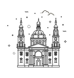 budapest basilica hungary vector image