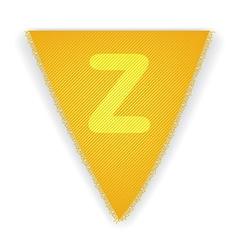 Bunting flag letter z vector