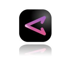 button left vector image
