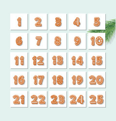 christmas advent calendar decorated wirh vector image