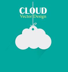 cloud design template hanging cloud green b vector image