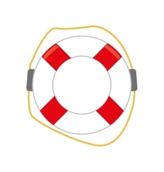 Colored lifebuoy icon vector